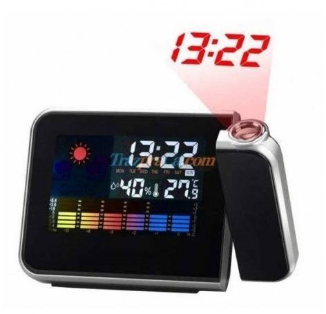Relógio Led Multifuncional Com Projeção Das Horas
