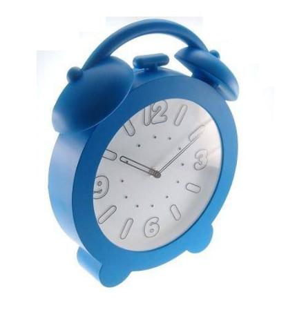 Relógio Plástico Azul Claro