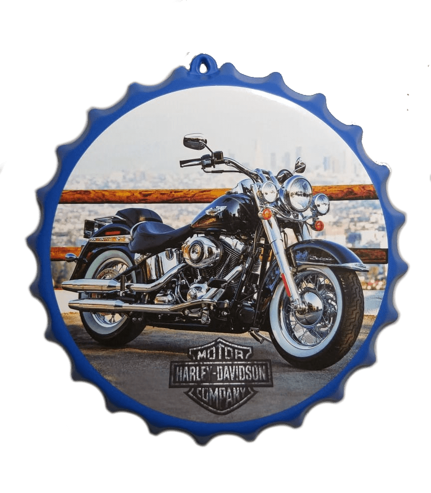 Tampa Garrafa Decorativa 27 cm Harley Davidson
