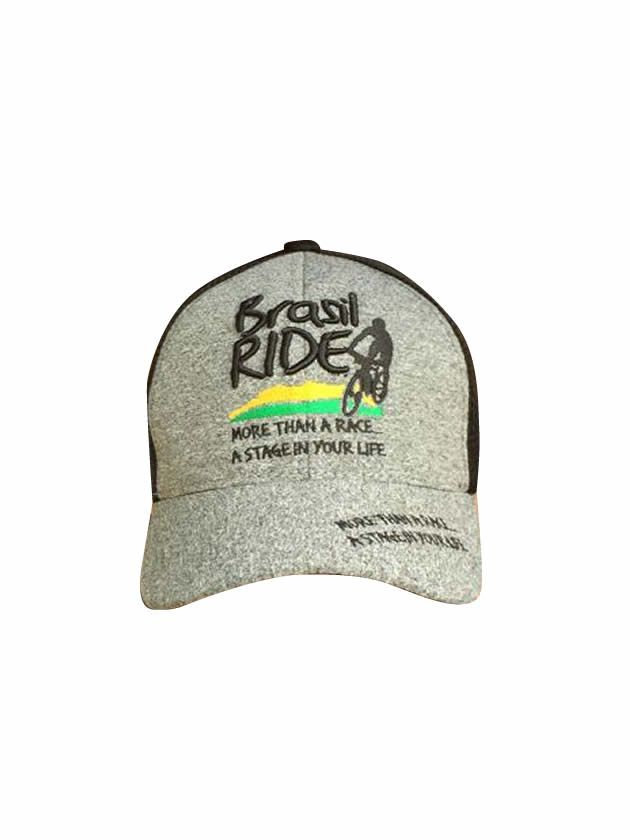 Boné Brasil Ride Cinza