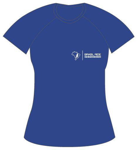 Camiseta Descobrimento Feminina azul