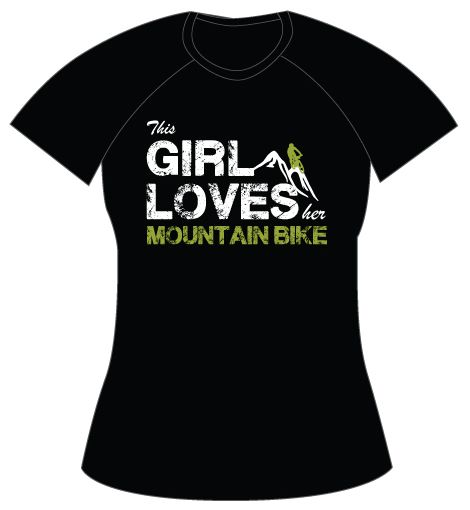 Camiseta Girl Loves Mountain Bike