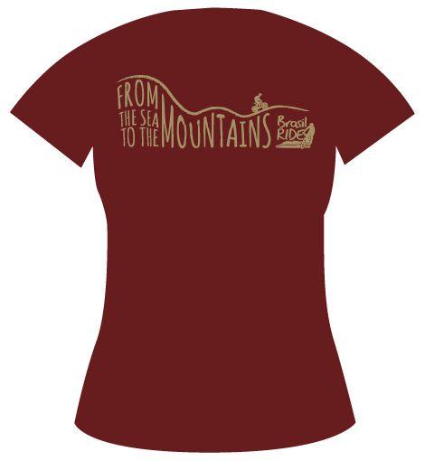 Camiseta Montanha Feminina vinho