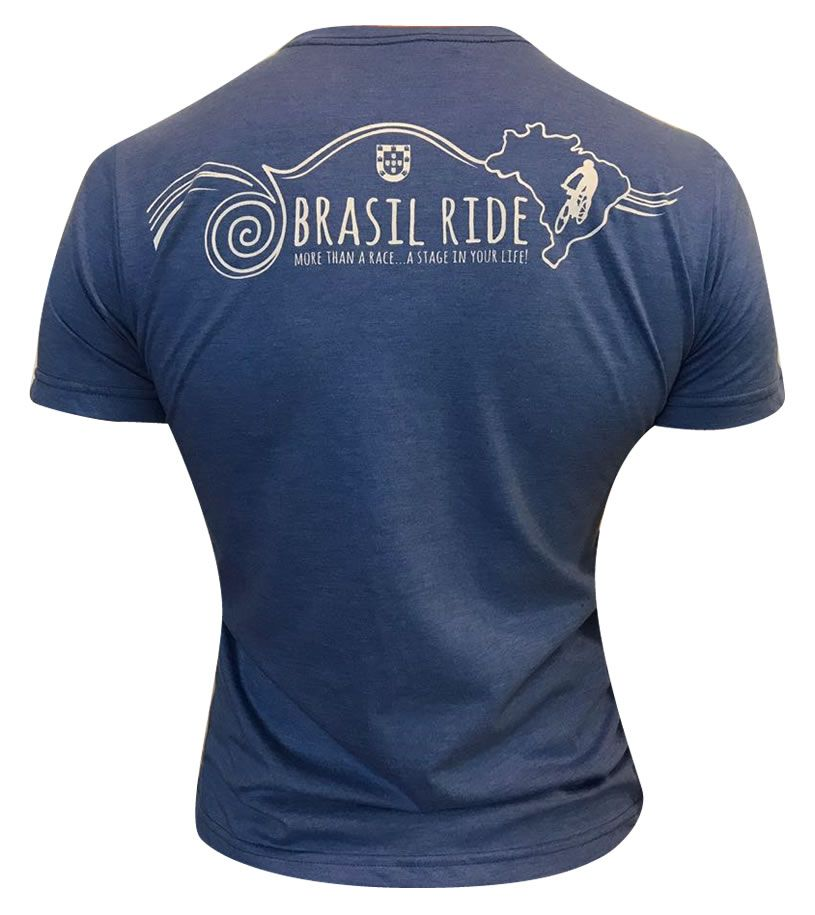 Tshirt Brasil Ride azul