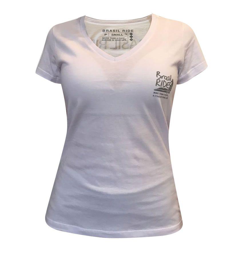Tshirt Brasil Ride feminina branca
