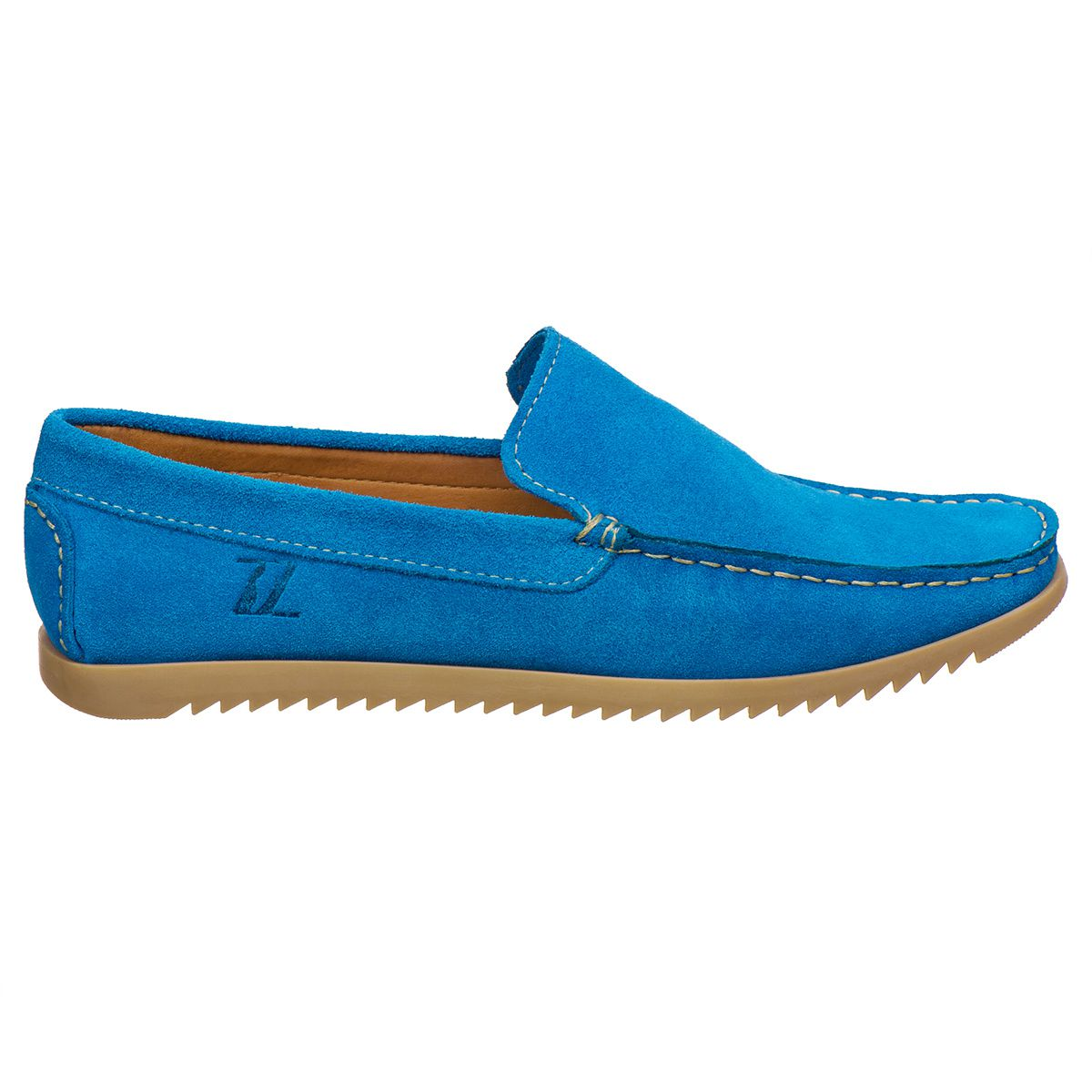 Mocassim Masculino Camurça Azul Rocco Lorenzzo - 4480 - Iate