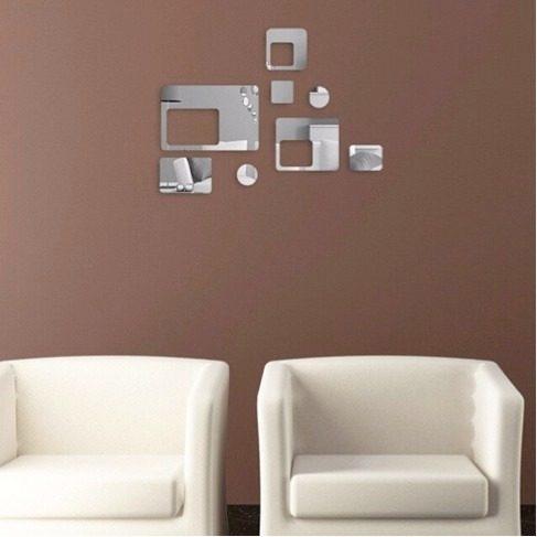 Espelho Decorativo Quadrados, Retângulos E Circulos