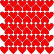 Adesivo de Parede Corações Divertidos Vermelho