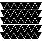 Adesivo de Parede Triângulos Divertidos