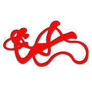 Decoração de Quarto Com Escultura Abstrata Em MDF Laminado na Cor Vermelho
