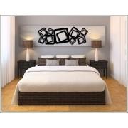 Escultura De Parede Abstrato Quadrados Vazado 100 X 45 Cm