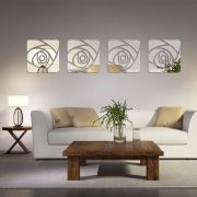 Espelho Decorativo Acrílico De Parede Design Rosa Espelhada 49 x 204 cm