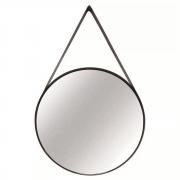 Espelho Redondo Decorativo Metal Preto 45cmx45cm Mart Collection
