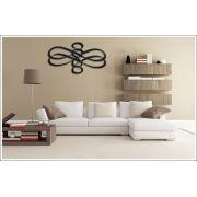 Escultura Decorativa de Parede Borboleta Abstrata 100 x 50 cm Preto