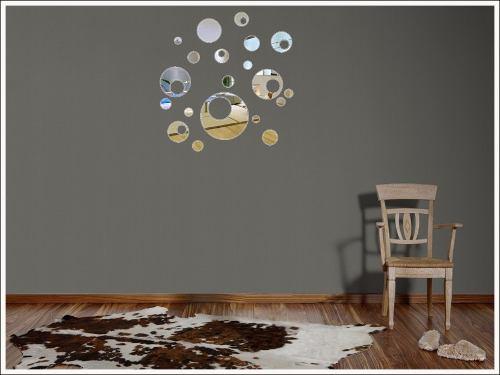 Espelho Decorativo Em Acrílico- Bolas Vazadas 20 Peças