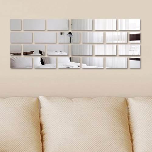 Espelho Decorativo Efeito Tijolinhos  24 Peças