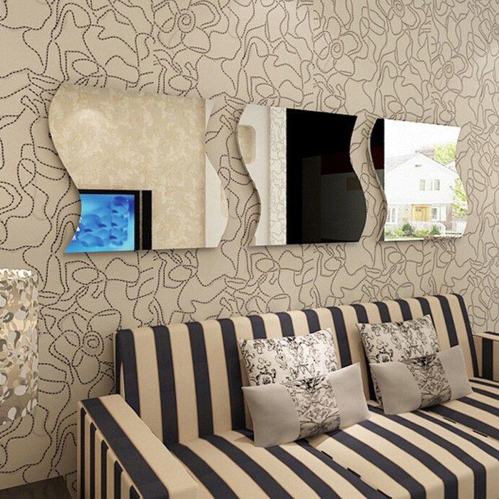 4 Espelhos Decorativos De Acrílico Tamanho De 49cm X 2,02 Mt