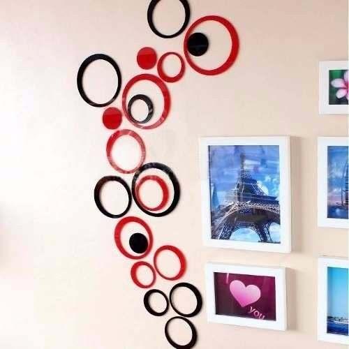 Círculos Decorativo Conjunto 10 Peças Cores Variadas