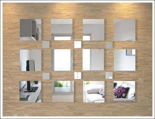 Espelho Decorativo Em Acrílico 18 Quadrados Personalizável