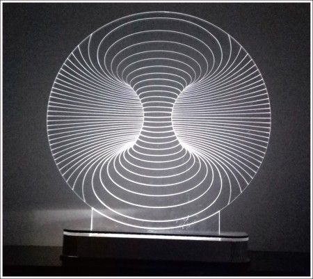 Abajur / Luminária De Mesa Em Acrílico Com Led Túnel 3d