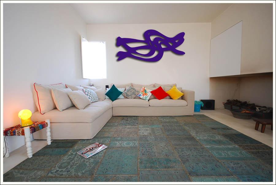 Decoração De Casa Com Quadros Abstratos Em MDF