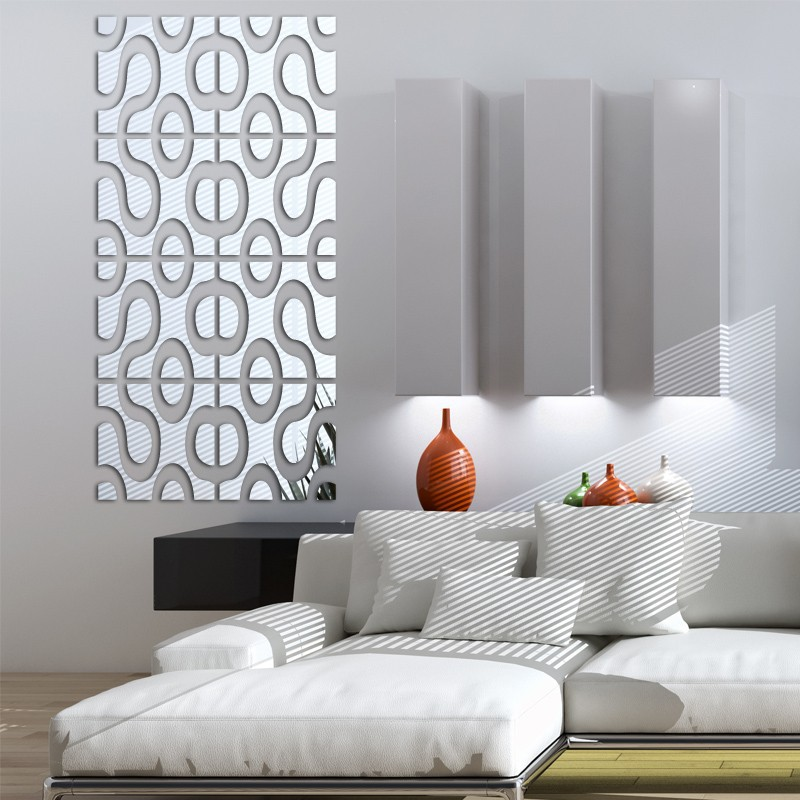 Espelho Acrílico De Parede Design Moderno 24,5 cm X 102 Cm
