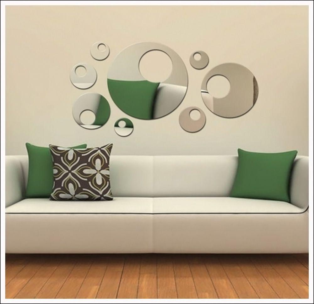 Espelho Bolas Decorativas Acrílico Para Sala Jantar Quarto