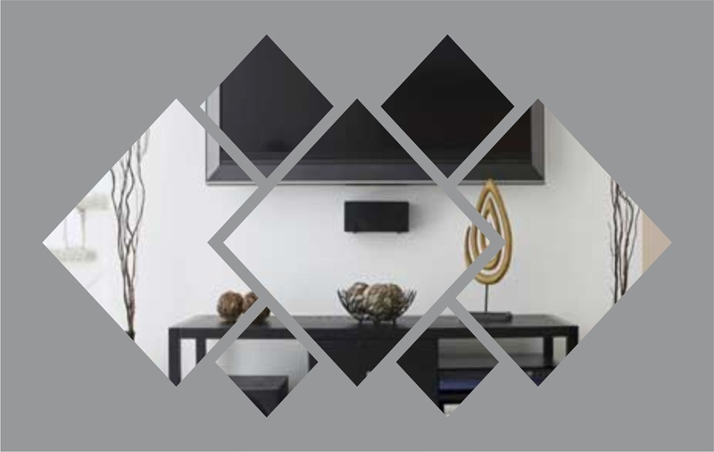 Espelho Decorativo Em Acrílico Espelhado Para sala 1,65 mt Personalizável