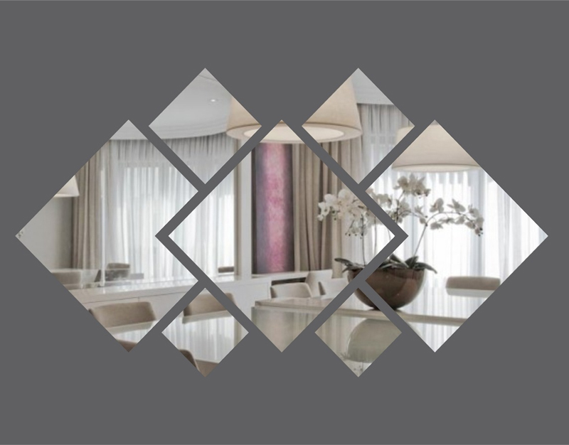 Espelho Decorativo Em Acrílico Para Quarto de Casal 1,20 mt Personalizável