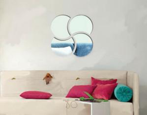 Espelhos Decorativos Quebra cabeça círculos