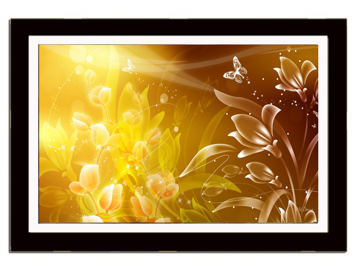 Quadro Decorativo Com Poster Temas Abstrato 70x50 Cm