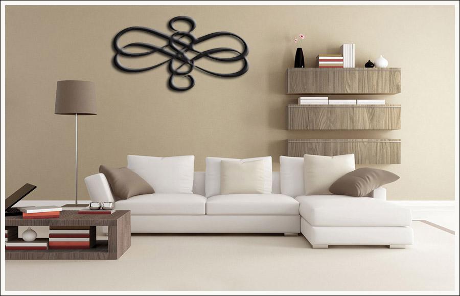 Quadro Decorativo Para Sala Escultura Abstrata 100 x 60 cm