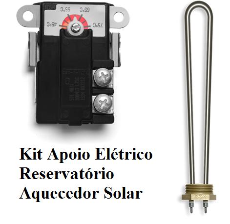 Kit apoio elétrico aquecedor Solar com termostato de encosto e resistência 3000 W 220v
