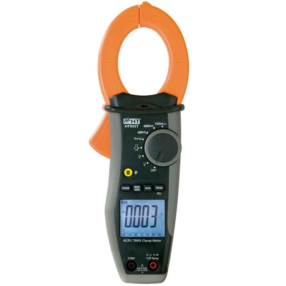 HT9021 Alicate amperímetro AC/DC TRMS 1000A CAT III 1000V com temperatura
