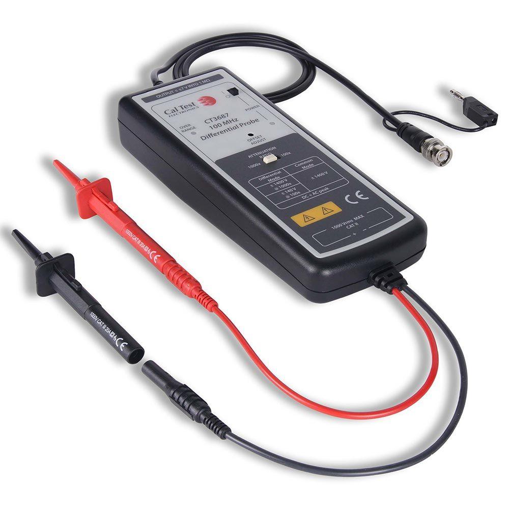 Ponta diferencial de 1400V e 100MHz para osciloscópios