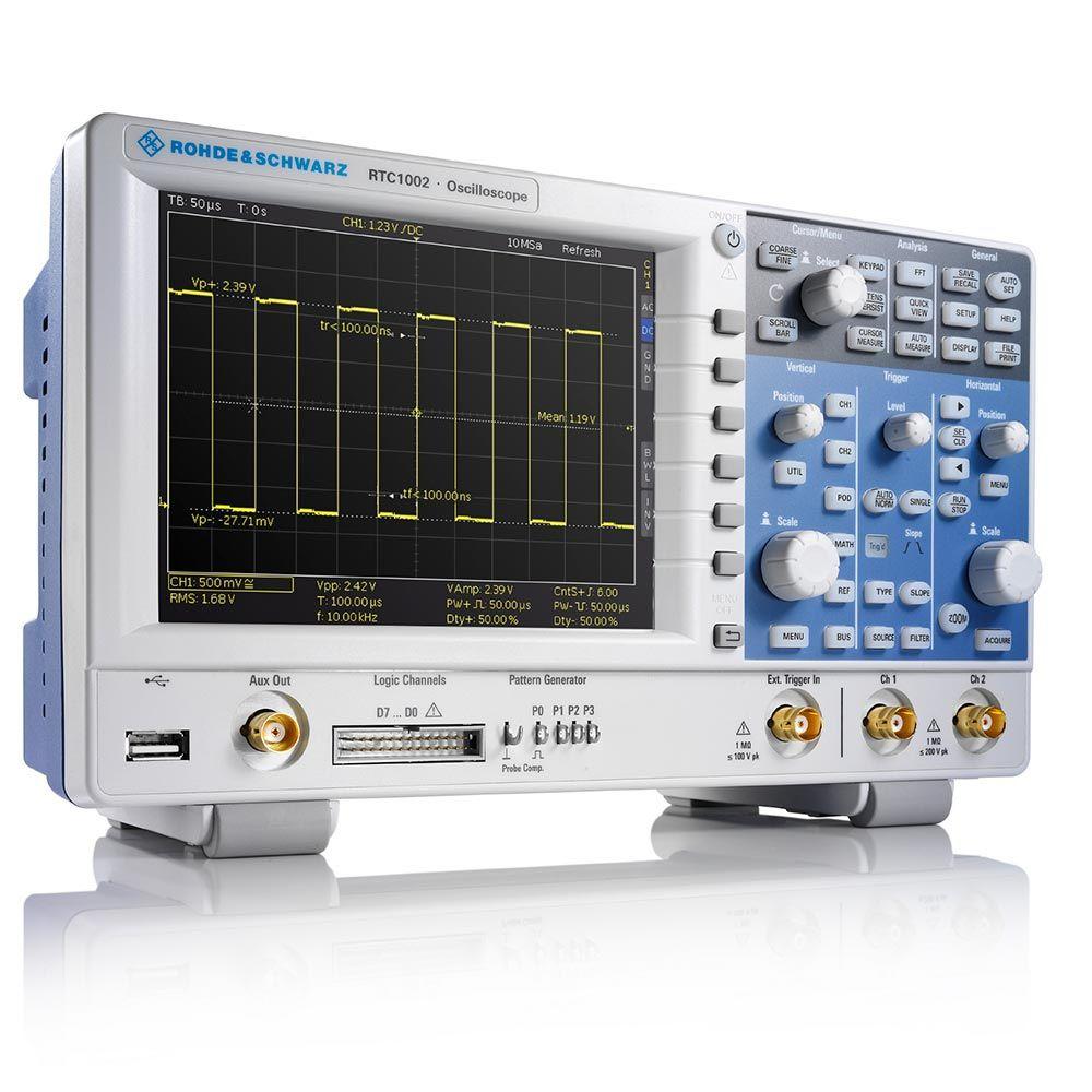 RTC1002 Osciloscópio de 50MHz 2 canais com testador de componentes