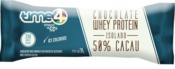 Chocolate Proteico 50% Cacau - 10 unidades.