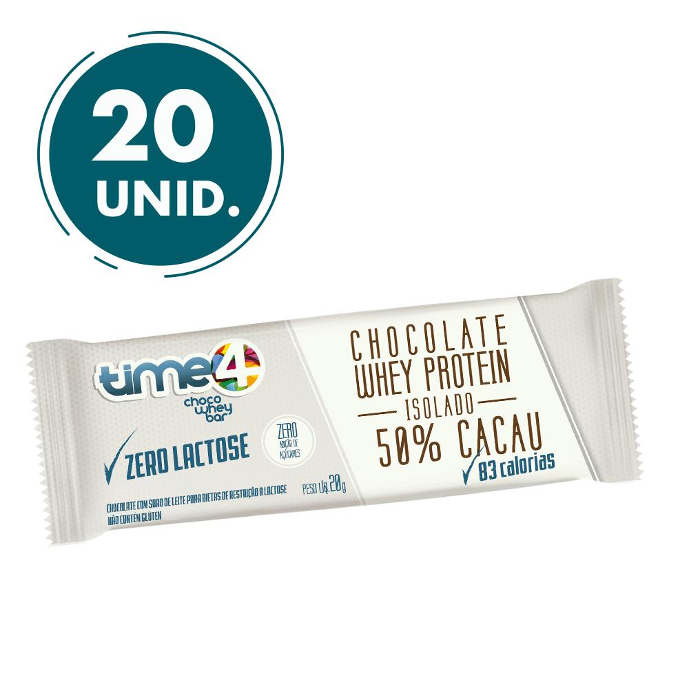 Chocolate Proteico 50% Cacau Zero Lactose 20 unidades