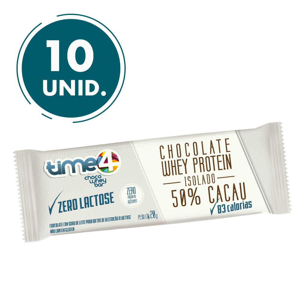 Chocolate Zero Lactose 50% Cacau 10 unidades
