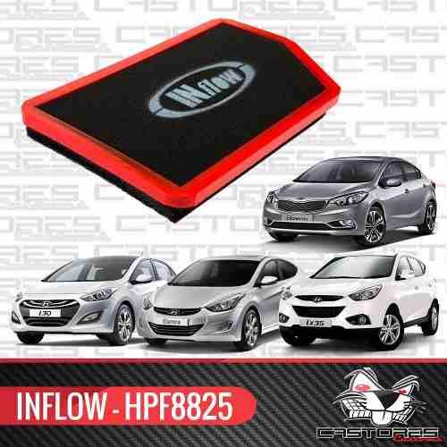 Filtro Ar Esportivo Inflow Hyundai I30 Ix35 Elantra Hpf8825