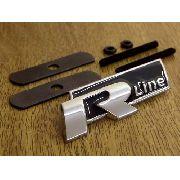 Emblema Rline Vw Grade Cromado Gol Jetta Golf Polo Fox -  Preto