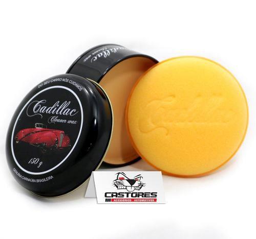 Cera Cadillac 150 gramas Cleaner Wax Carnaúba Com Aplicador