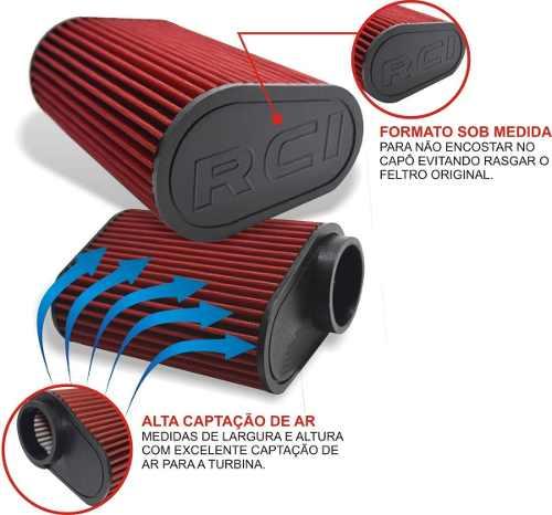 Kit Intake Completo Vw Up Tsi Race Chrome Filtro Esportivo