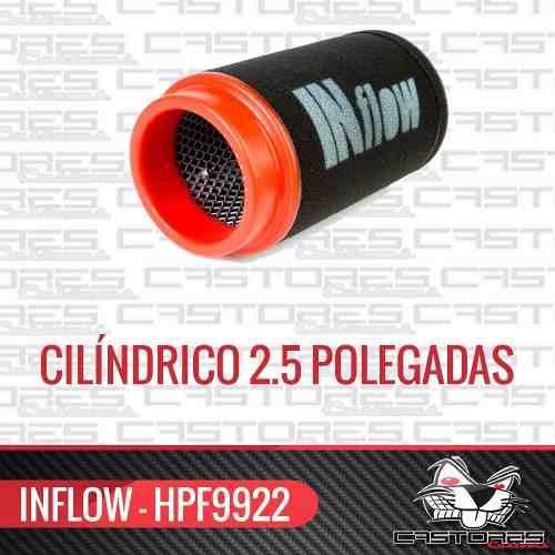Filtro De Ar Esportivo Inflow Cilíndrico 2,5 Pol Hpf9922