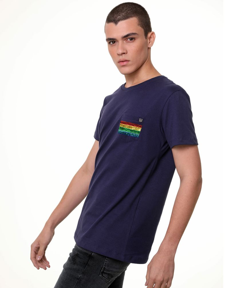 Camiseta Arco-Íris (Masculino Adulto)