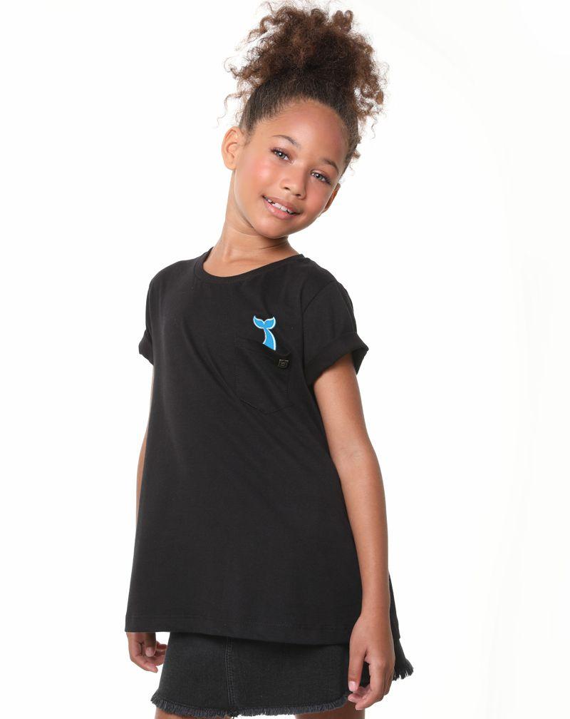 Camiseta Baleia (Infantil Feminino)