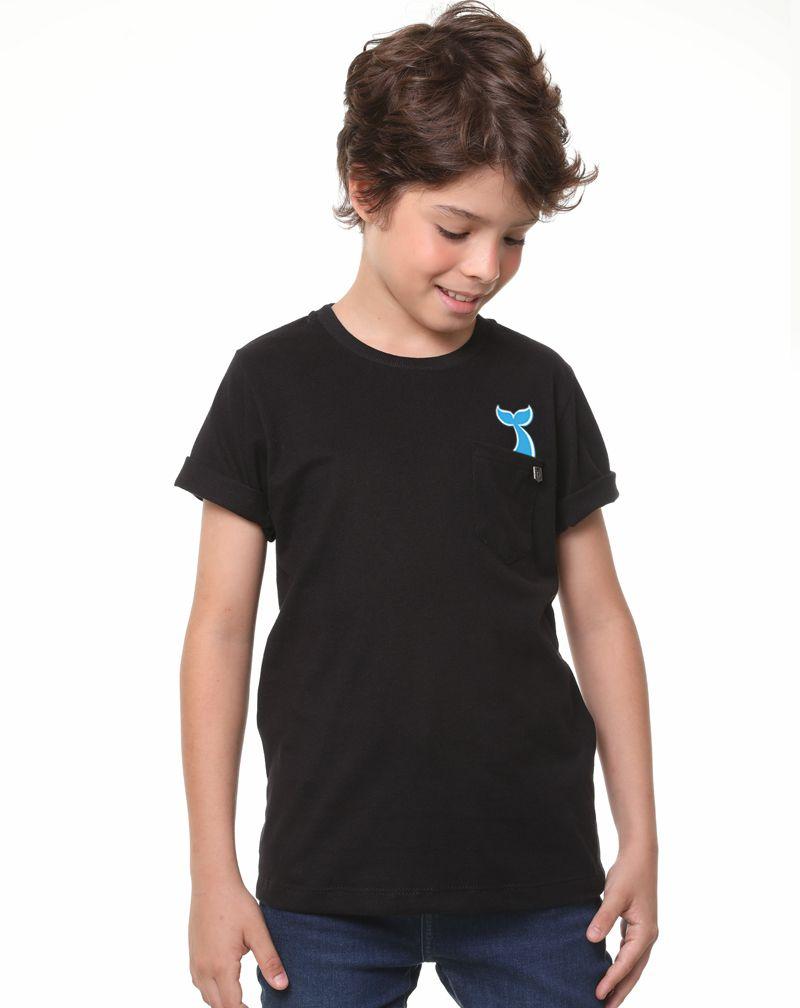 Camiseta Baleia (Infantil Masculino)