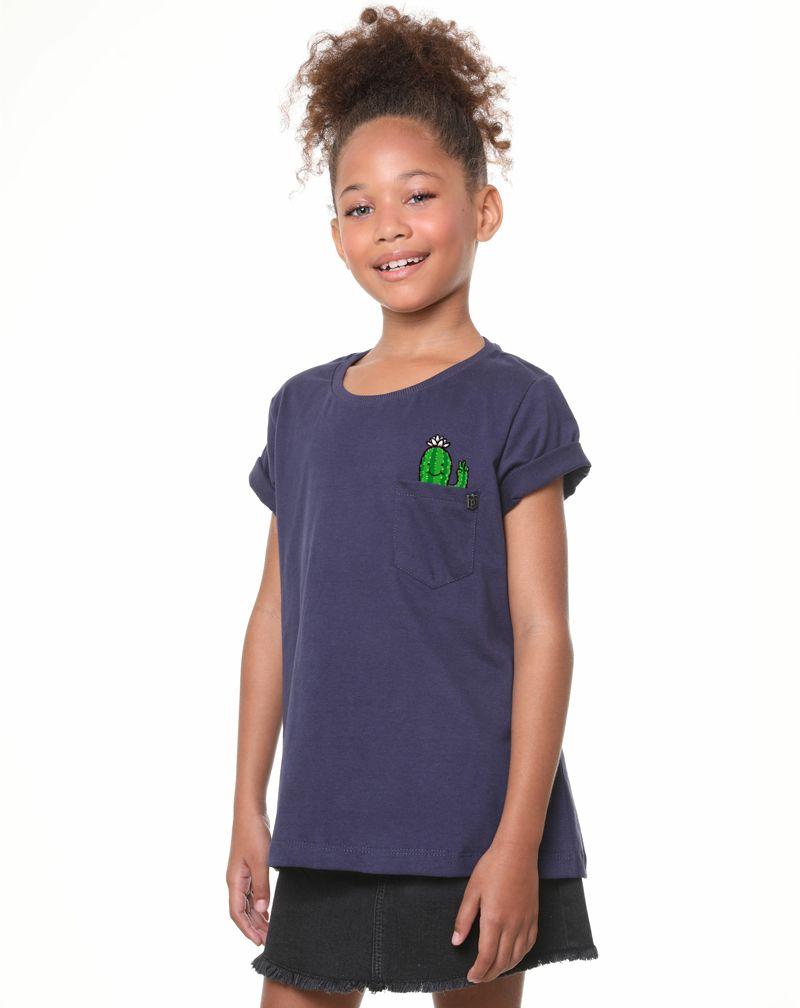 Camiseta Cacto Fun (Infantil Feminino)