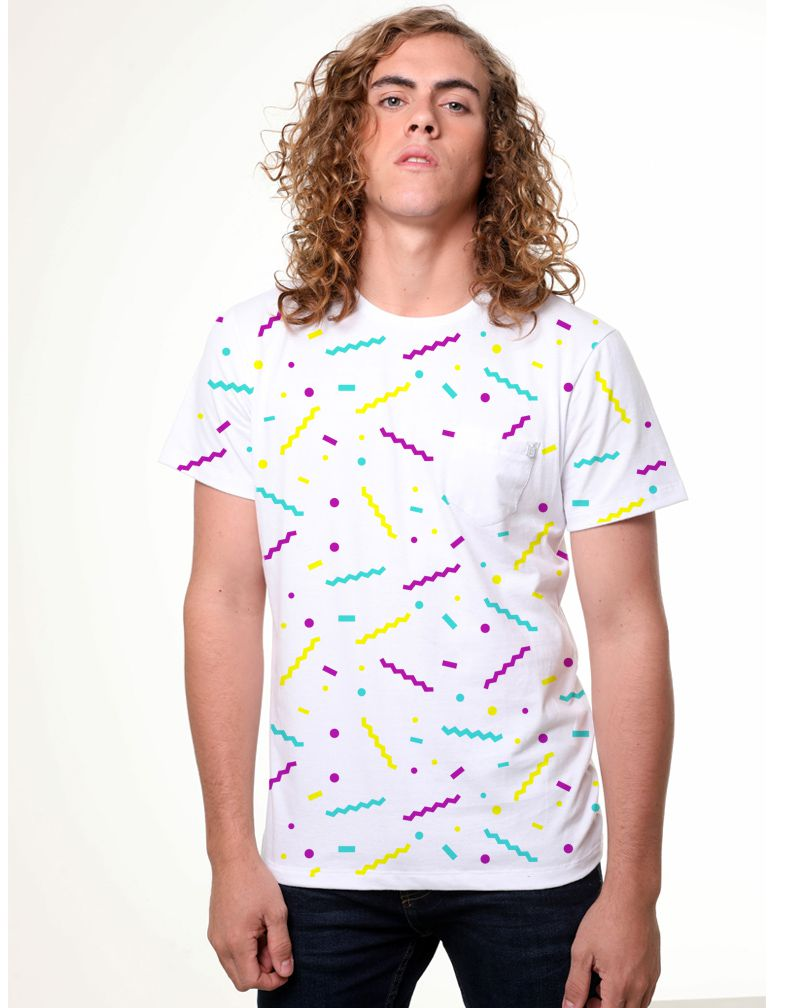 Camiseta Confete (Masculino Adulto)