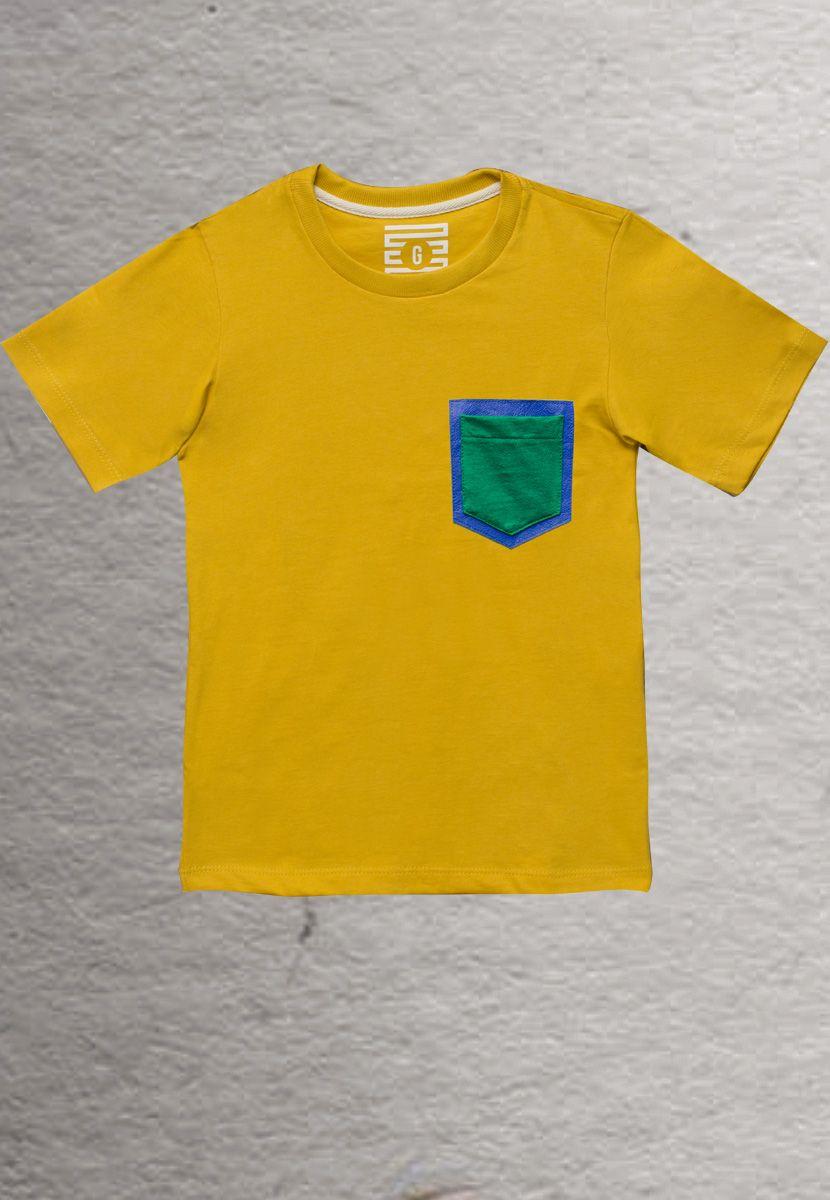 Camiseta Couro Brasil (Infantil Masculino)